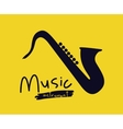 saxophone instrument isolated icon design vector image vector image
