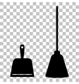 Scoop for cleaning garbage housework dustpan vector image vector image