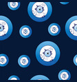 seamless pattern with artistic blue evil eye vector image