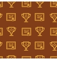 Seamless pattern with certificate and awards vector image