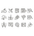 set of abstract line art icons digital vector image vector image