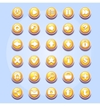 Set of different buttons for computer games vector image vector image