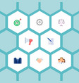 set of job icons flat style symbols with scales vector image