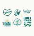 set summer badges vector image vector image