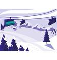 ski camp snowscape scene vector image