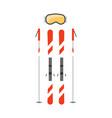 ski poles flat vector image vector image