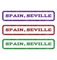 spain seville watermark stamp vector image
