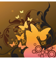 stylized butterfly graphic vector image vector image