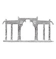temple of chillimbaram entrance elevation wall vector image vector image