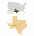 texas state map vector image vector image