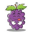 tongue out grape character cartoon collection vector image vector image
