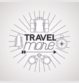 travel more background vector image