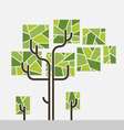 tree graphic tube trunk rectangle leaves stripes vector image