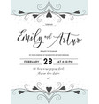 wedding invite save the date card lovely design vector image vector image