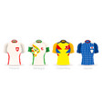 world cup group h team uniform vector image vector image
