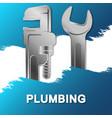 wrench plumbing repair banner vector image vector image