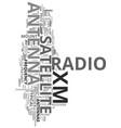 xm satellite radio antenna text word cloud concept vector image vector image