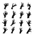 zombie hands silhouette set black creepy symbol vector image vector image