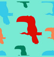 a seamless pattern of toucan birds vector image vector image