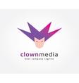 Abstract clown face circles logo icon concept vector image