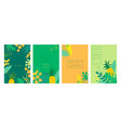 abstract tropical backgrounds summer banners vector image vector image