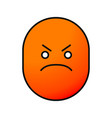 angry smile color icon vector image