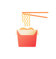 asian food takeaway flat color icon vector image vector image
