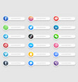 banners popular social media lower third icons vector image