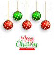 beautiful merry christmas background vector image vector image