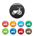 boy tricycle icons set color vector image vector image