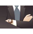 Businessman with Crossed Hands vector image vector image