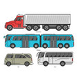 car body style outline public transport vector image