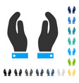 care hands icon vector image vector image