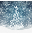 christmas tree background with copyspace vector image