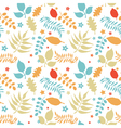 colorful floral seamless vector image vector image