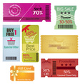 Coupons and Gift Card Design vector image vector image