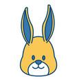 cute bunny head cartoon vector image