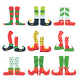 elf feet christmas fairytale character colorful vector image