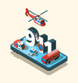 emergency vehicles isometric safety urban vector image vector image