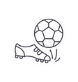 football line icon concept football linear vector image vector image