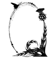frame with thistle vector image vector image