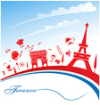 france background with flag vector image vector image