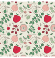 fruit wallpaper background vector image vector image