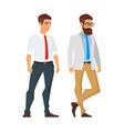 happy businessman character vector image