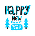 Happy new year 2016 or christmas typography Poster vector image