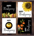 happy thanksgiving poster in minimalistic style vector image vector image