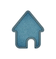 Home icon Realistic denim eps10 vector image