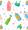 household detergents seamless pattern household vector image