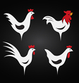image an chicken design vector image vector image