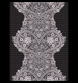 lace black and white vertical seamless pattern vector image vector image